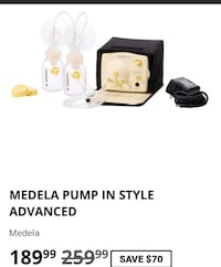 Medela Pump in Style Advanced breast pump screenshot Richmond, 40475