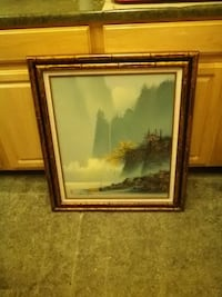 brown wooden framed painting of trees Prescott Valley, 86314