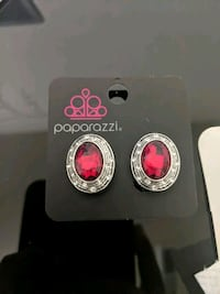 East Side Etiquette Red clip-on Earring Gaithersburg, 20878