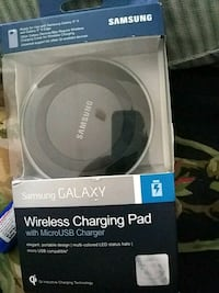 black Samsung wireless charging pad in box Oakland, 94602