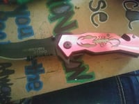 Red scorpion knife