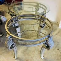 Round glass top coffee table with 2 matching end tables Palm Bay, 32905