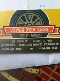 TIRES NEW AND USED Gregory