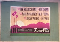 Desert Trip door mat. A unique mat ready for the rock and roll patio or room Los Angeles, 90069