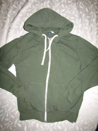 Mens size m h&m green zip-up hoodie London