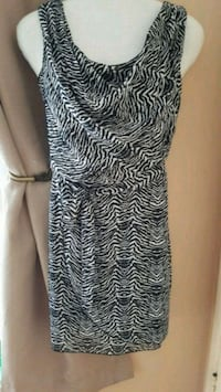 women's black and white sleeveless dress Montreal