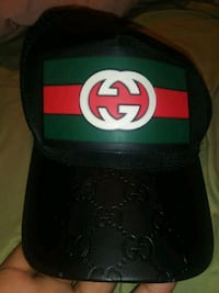 Black and green fitted cap