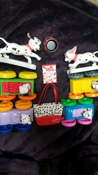 Vintage 9ps 101 Dalmations Toy Lot