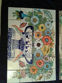 TALAVERA white, blue, and green floral print tiles Las Cruces, 88012