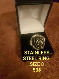 BEAUTIFUL STAINLESS STEEL ROSE RING