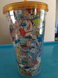 Rug Rats plastic cup with straw NEW  Toronto, M2M 2A9