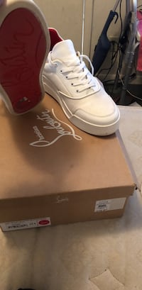 White christian louboutin low-top sneakers with box Mount Vernon, 10550