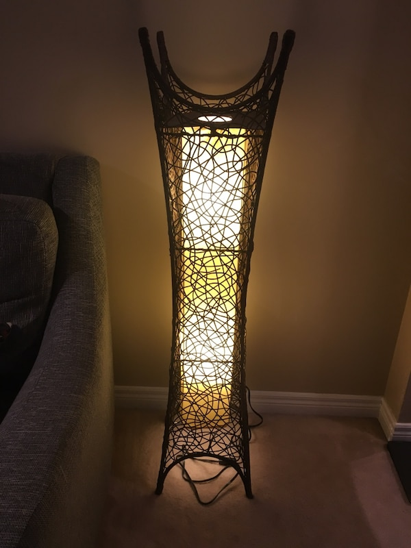 Decorative Wicker Floor Lamp