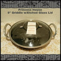 "PRINCESS HOUSE 9"" GRIDDLE W/ETCHED GLASS LID  Ontario, 91762"