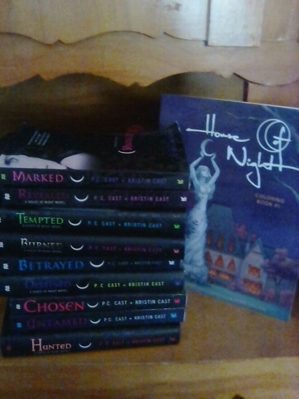 The House Of Night Books And Coloring Book