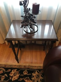 Side table with candle holder included  Toronto, M9M 1R4