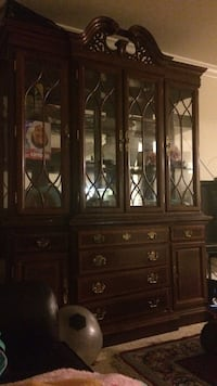 Dark brown wooden china cabinet Montgomery Village, 20886