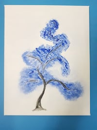 Abstract wall art Blue Tree Toronto, M4W 1A9