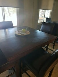 Bar height kitchen table, extension leaf Calgary, T2V 1R3