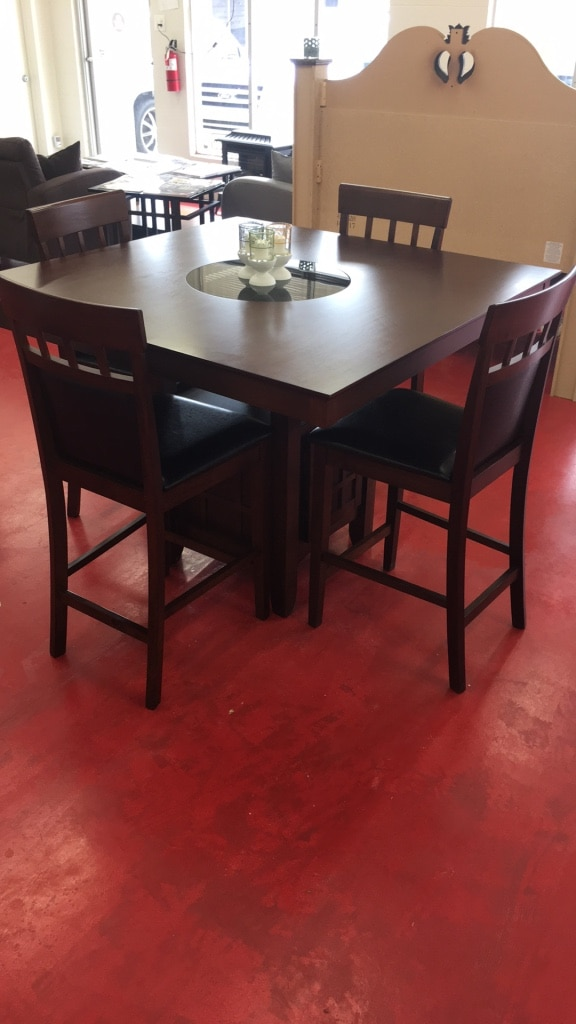 used rectangular brown wooden table with four chairs dining set for rh gb letgo com