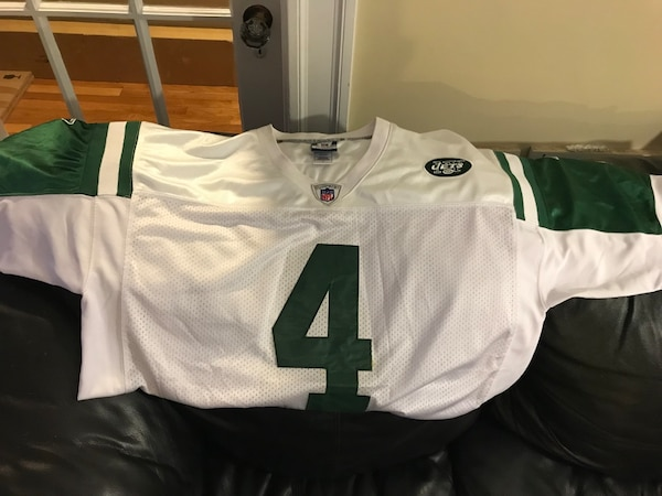 official photos 8558b b2903 Brett Favre Ny Jets authentic men's size 52 home White football jersey