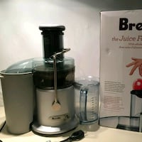 black and gray Breville power juicer 536 km