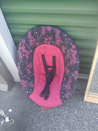baby's pink and black floral bouncer Warner Robins, 31088