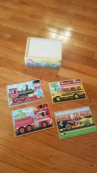 Melissa & Doug Vehicles Jigsaw Puzzles in a Box Sterling