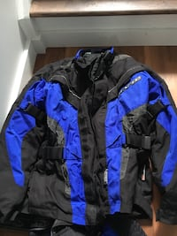 black and blue zip-up jacket Sherwood Park, T8A 0K8