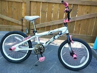 """Girls 18"""" BMX With Gyro and Pink Pegs  Cambridge"""