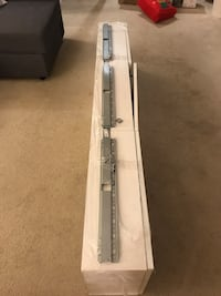 White TV Shelf(includes hanger,parts and bolts,Good quality) Burnaby, V5B 3S8