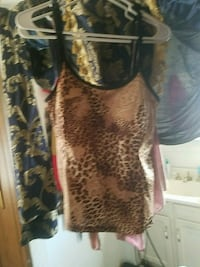 brown and black leopard print tank top Golden Valley, 86413
