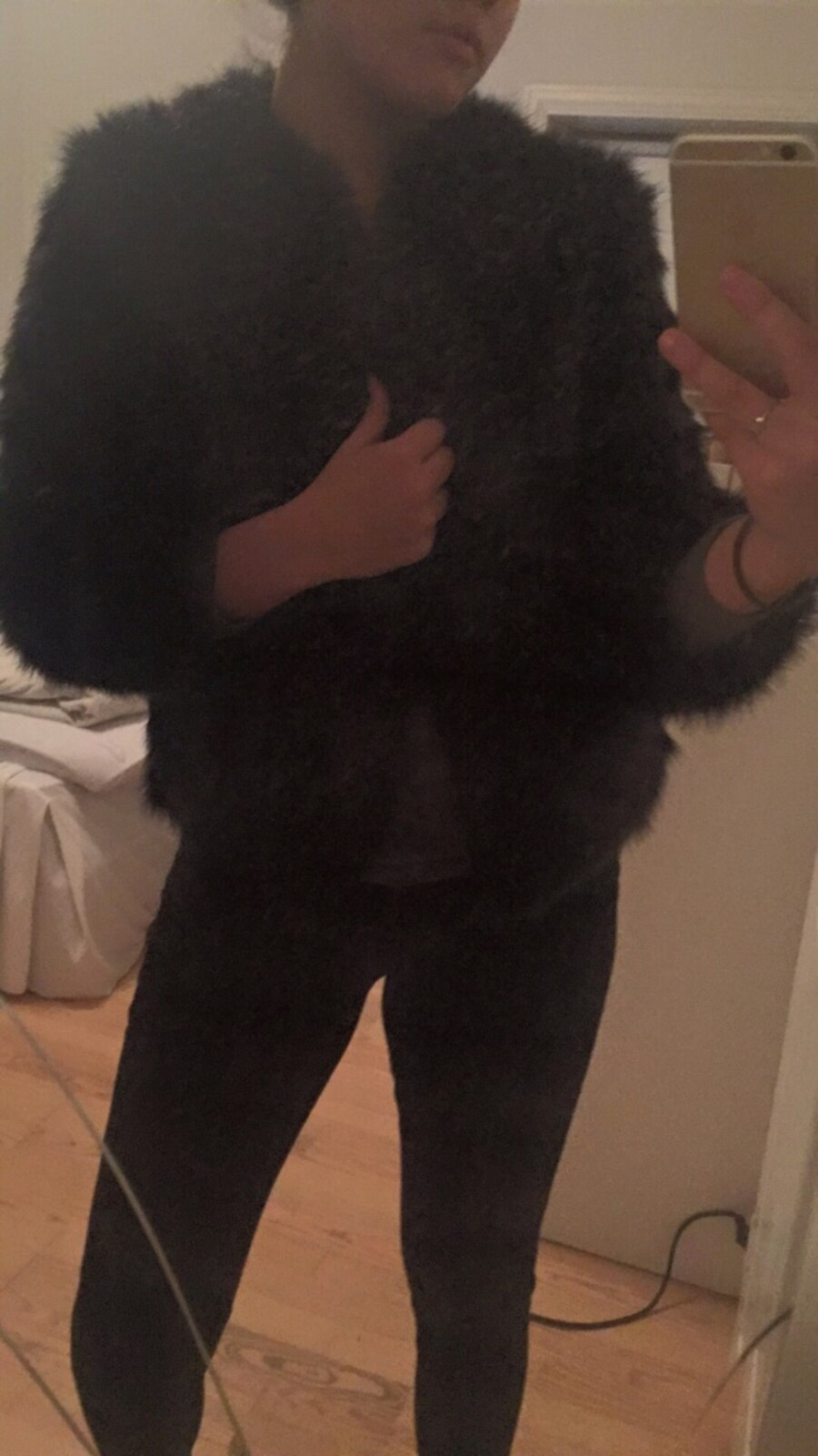 Faux fur, sort - Hedmark
