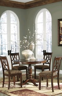 5 piece Medium Brown Round Dining Set with Buy Now Pay Later Option! Elkridge