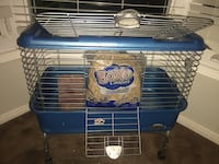 blue and white pet cage Whitby, L1R 1W4