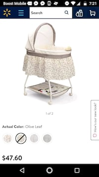 baby's white bassinet screenshot Cicero, 60804