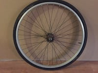 700c x 35 Single Speed Wheel, tube and tire W/ freewheel/ fixed cog