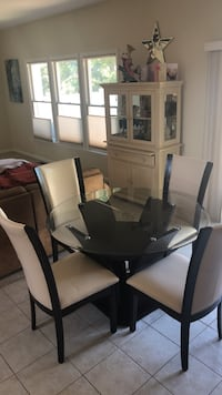 round glass-top table with black wooden frame Toms River, 08753