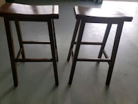 two black wooden bar stools Sterling, 20165