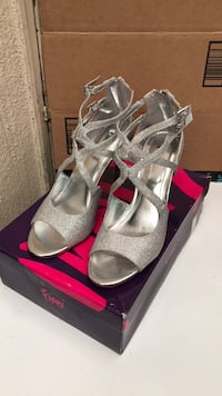 Silver Shoes. use one time only. size8