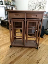 Compact Fold-Out Table with Stools Chicago, 60613