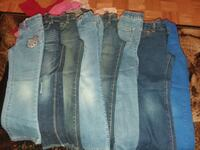 8 pair of blue denim straight-cut jeans  Bronx, 10451