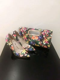 Heels and Clutch Floral Set