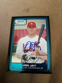 Jon Jay St. Louis Cardinals signed baseball trading card Metamora, 61548