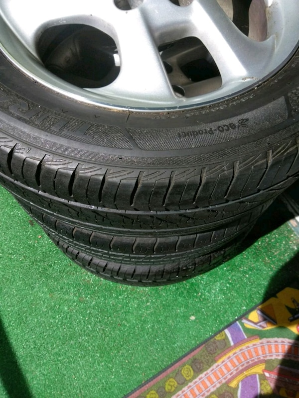 3 rims with tire, for lexus, and other.