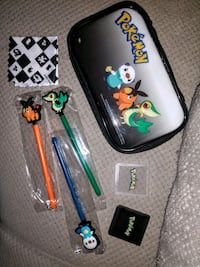 2011 New 7pc DS Pokemon 2 cases, cloth, 3 stylus  Manchester, 03103