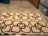 white and red area rug Frederick, 21704