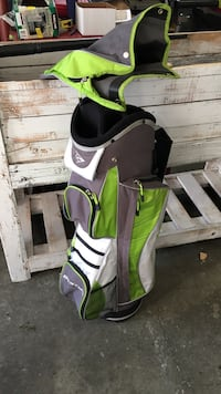 green grey and white dunlop golf bag