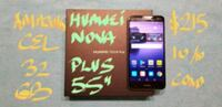 "FIRM $215 HUAWEI NOVA PLUS 5.5""10/10Cond.BOX+Charg Pointe-Claire, H9R"