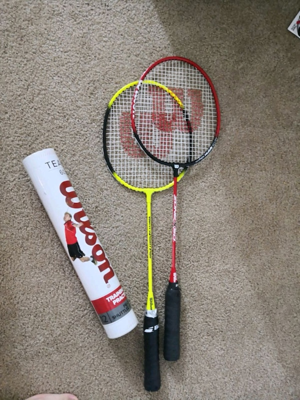 white and red Wilson tennis racket